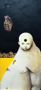 homunculus-il-mai-nato-tec-mista-legno-30x60-2014-luigi-lerna