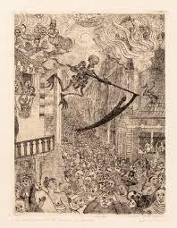 James Ensor, La Mort Poursuivant le Troupeau des Humain, 1896