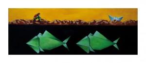 Luigi Lerna - Muto come un pesce - 80x30 - 2012