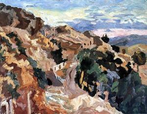 Aliano in un dipinto di Carlo Levi